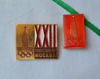 USSR sport pins Lot 2x Soviet badge set Olympiad Moscow 1980 22 Olympic Games
