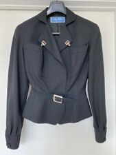 Thierry Mugler Jacket Blazer BLACKVintage Dead Stock Wasp Waist Wool 38/40