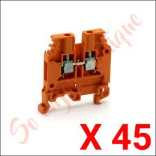 TE Entrelec 1SNA105002R2000 - lot 45 Bornes vissé Liaison Orange M4-6