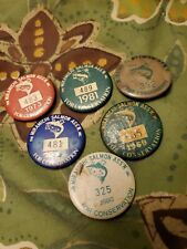 vintage MIRAMICHI ASSOCIATION LABEL PINS