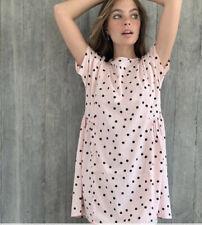 Influence Smock Dress Pale Pink In Polka Dot Spot Print Size 8 & 12 EK31