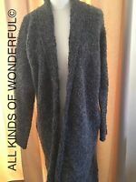 Hunky Dory Logan Long Line Cardi in Black or Grey Melange RRP £170! BN with tags