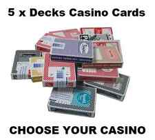 More details for 5 x decks of las vegas casino cards - 40+ to choose from all popular casinos