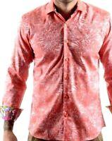 Bertigo Masterpiece Tosh M29 Mens Shirt S Floral Flip Cuffs Button Up $159