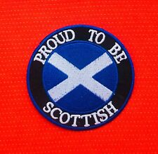 PROUD TO BE SCOTTISH SCOTLAND SALTIRE ST ANDREW CROSS  BADGE IRON SEW ON PATCH