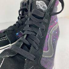 Vans Off The Wall Sk8 Hi Galaxy Skateboard Shoes High Top Black Women 9 Men 7.5