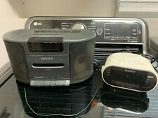 Sony Dream Machine Icf-Cs650 Am/Fm Radio Cassette Clock + Icf-C316 + Icf-C218