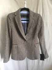 Zara Basic Multi Color Hounds-tooth Blazer Size S NWT