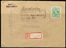 GERMANY ALLIED MILITARY GOV'T  42 pfg BRUNS PRINT   REG- COVER DUREN TO HANNOVER