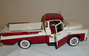 DANBURY MINT 1957 DODGE SWEPTSIDE PICKUP D100, RED AND WHITE
