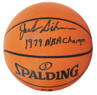 Jack Sikma (Sonics) Signed Spalding Game Series NBA Basketball w/1979 Champs -SS