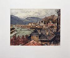 Original Eidenberger Radierung Salzburg