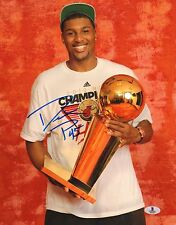 Dexter Pittman Signed 2012 Heat Basketball 11x14 Photo BAS Beckett COA Autograph