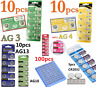 Lots of 1.55V AG4 AG3 AG10 AG13 CR2016 CR2032 3V Watch Button Coin Cell Battery