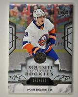 2019-20 ICE Exquisite Collection Platinum Rookies #R6 Noah Dobson RC /399