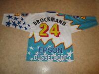 """Düsseldorfer EG starter Eishockey Trikot 1995/96 """"EPSON"""" + Nr.24 Brockmann Gr.XL"""