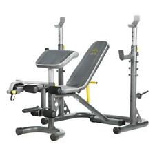 Power Weight Lifting Bench Rack Olympic Workout Home Gym Strength Fitness Health