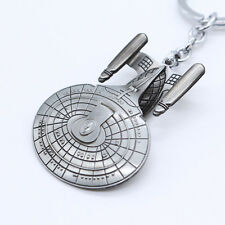 New Star Trek Spaceship Enterprise Stereoscopic Keyring Keychain Silver Color