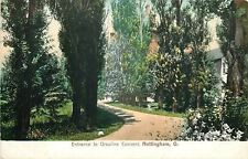 Nottingham Ohio~Ursuline Convent Entrance~Buildings in Trees~1906 Postcard