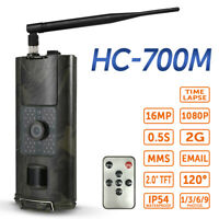 HD 1080P 16MP Wild Trail Hunting Camera Waterproof Night Vision 2G GPRS MMS SMS