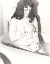 Original Vintage 1940s-60s Nude Photo- Bathroom- Super Endowed Woman Takes Bath