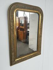 Prunk-Spiegel gestuckt vergoldet um 1860 92 x 64 cm