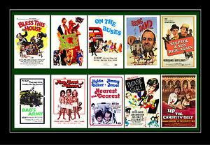 SIT COM FILMS - GEORGE & MILDRED, ON THE BUSES ETC FILM POSTERS POSTCARD SET # 1