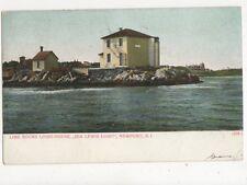 Lime Rocks Lighthouse Ida Lewis Light Newport RI 1907 Postcard USA 402a ^