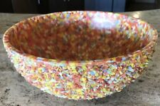 Unusual Vintage Large DADA Kitsch Bowl Made From Multi Color Plastic Bits