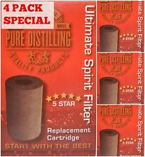Pure Distilling Carbon Filter Cartridge - 4 pack - Home Brew Spirits EZ