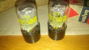 Pair of Cossor 6SN7GT Valves
