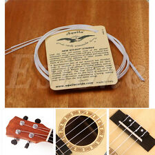 A Set of 4 Strings White Nylon Replacement Part for Ukulele Guitar Hot