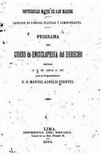 Programa Del Curso de Enciclopedia Del Derecho by Manuel Aurelio Fuentes...