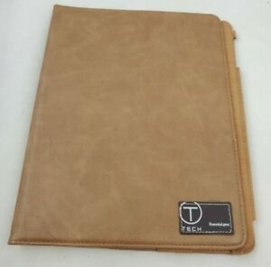 """Tumi Tablet Case Brown Leather Essential Gear T-Tech 9.75"""" x 7.75"""""""