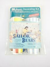 Vintage 1996 3M Room Decorating Kit Self Stick On Appliques Sailor Bears Decor