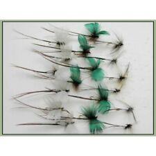 Grigio Verde Oliva Bianco /& Royal confezione da 16 Taglia 10 pesca Mosche Wulff Trote Mosche