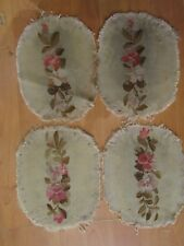 4 anciennes tapisseries de siege XIXe aubusson manchon fauteuil coussin 12