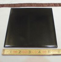 "1 pc. *Solid Black* Porcelain/Ceramic Floor Tile  6"" X 6"" Made in Italy 5-13/16"""