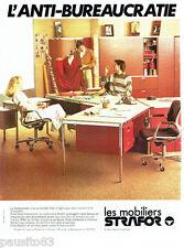 PUBLICITE ADVERTISING 036 1978  les mobiliers de bureau Strafor *