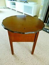 Vintage Wooden Sewing Box Table And Contents great vintage items for enthusiast!