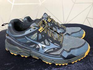 Men's Mizuno Wave Daichi 4 Gore-Tex Trail Running Shoes - UK: 9.5 - Blue/ Yellow