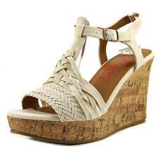 Zapatos de tacón de mujer de tacón alto (más que 7,5 cm) de color principal beige de lona