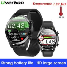 Body Temperature Measurement ECG Blood Pressure Monitor Heart Rate Smart Watch