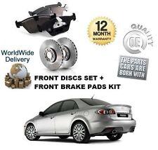 Per Mazda 6 2.3 MPS Turbo l3kg 2005-2008 Dischi Freno Anteriore Set + KIT DISCO PASTIGLIE