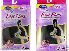 Dr Scholl Fast Foldable Flats Women Shoes Accessories 3-5, 6-9 UK