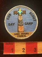 Vtg Boy Scout BSA Patch CUB SCOUT DAY CAMP LONG RIVERS COUNCIL 84V9