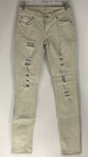 7 Seven for all Mankind Destroyed Roxanne Size 26 off white beige