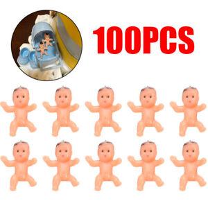 100pcs Mini Plastic Newborn Baby Dolls Toy Baby Shower diy Party Favors Decor