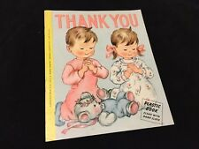 1953 C.R. Gibson Company Thank You Plastic Children's Book Wipe Off