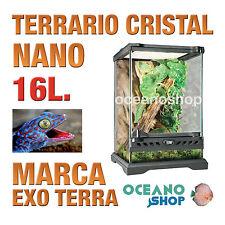 TERRARIO DE CRISTAL REPTILES CERRADURA ANTIESCAPE NANO 16L Exo Terra Calidad